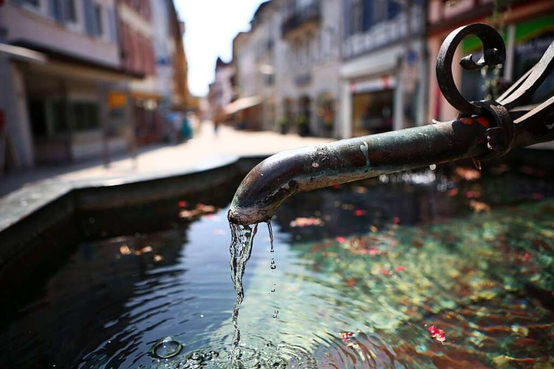 Aus Schwarzwaldquellen und  Tiefbrunne... das Trinkwassernetz in Lahr gespeist.  | Foto: Christoph Breithaupt