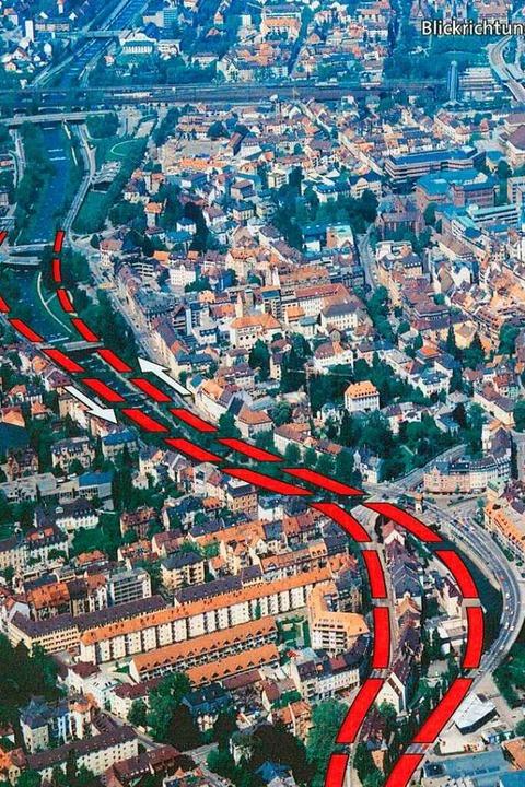 Der geplante Stadttunnel unter Freiburg.  | Foto: Garten- und Tiefbauamt