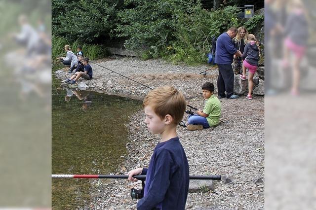 Angler fischen Nachwuchs