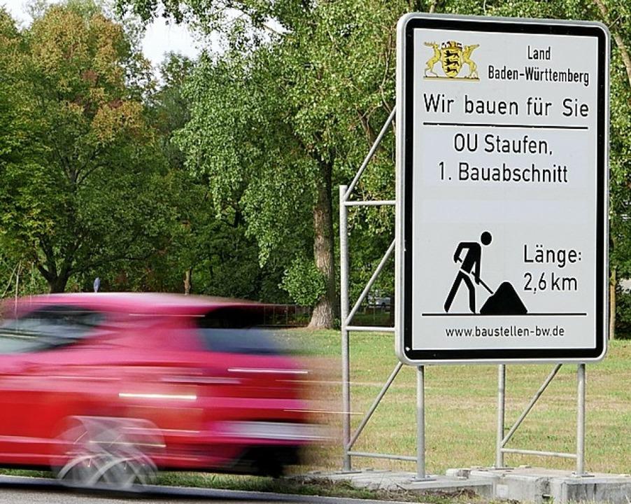 Umfahrung Staufen: RP vorschnell?    Foto: Hans-Peter Müller