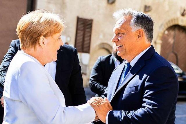 Merkel und Orban suchen Annäherung bei Treffen in Sopron