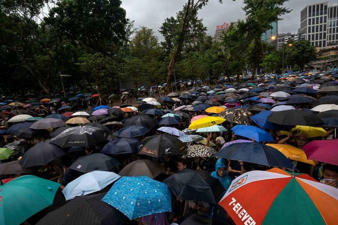 Friedliche Proteste in Hongkong  | Foto: Adryel Talamantes (dpa)