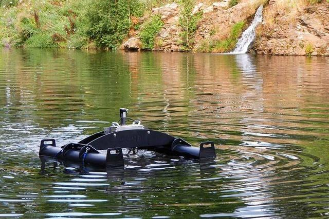 Schwimmende Maschinen sollen Weiher in Titisee-Neustadt umrühren