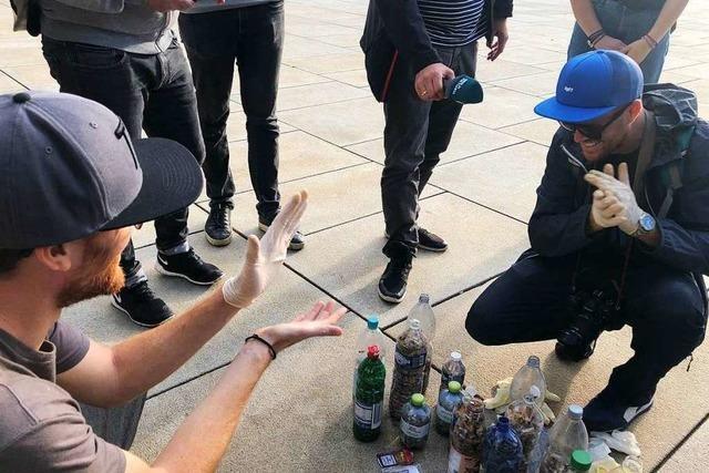 Wie war's bei der … Fill-The-Bottle-Challenge in der Freiburger Innenstadt?