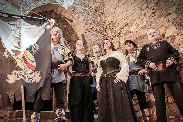 Die Spielleute Skadefryd aus Bad Säckingen sind für mittelalterliche Marktmusik bekannt
