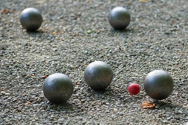Boulespielen kann jeder, aber gewinnen können nur wenige