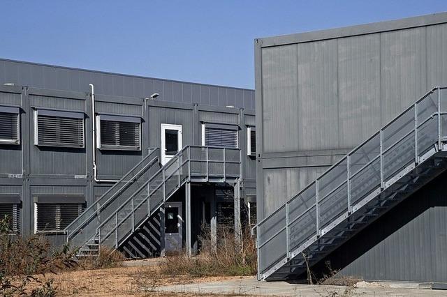 Containeranlage für Flüchtlinge wird abgebaut