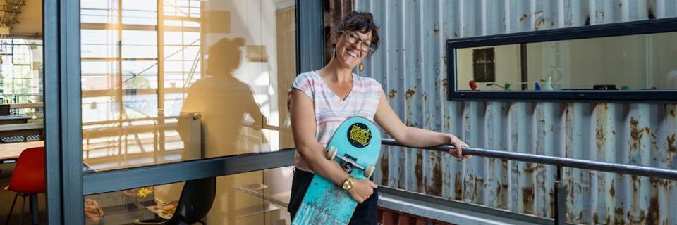 Diese Freiburgerin hat in Schweden über die therapeutische Wirkung des Skatens gesprochen