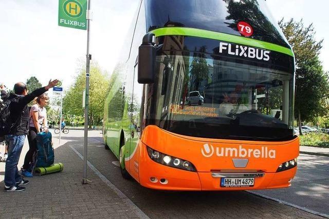 Der Flixbus hält wieder am Bahnhof in Rheinfelden