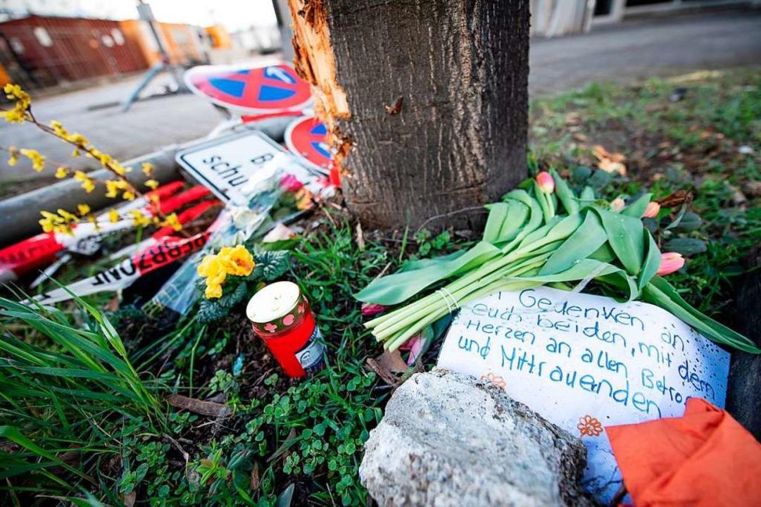 Die Unfallstelle in der Stuttgarter Ro...019 durch einen Raser ums Leben kamen.    Foto: Fabian Sommer
