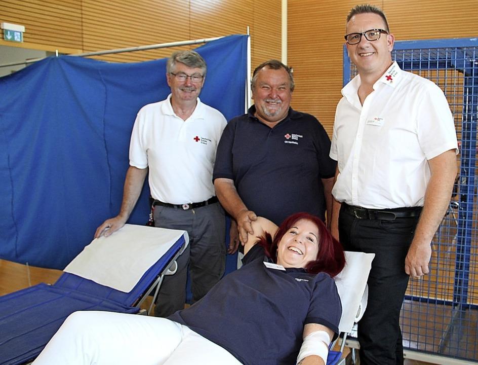 Für eine DRK-Blutspendeaktion braucht ...he, Alexander Sieber und Silke Wasmer   | Foto: Theresa Ogando