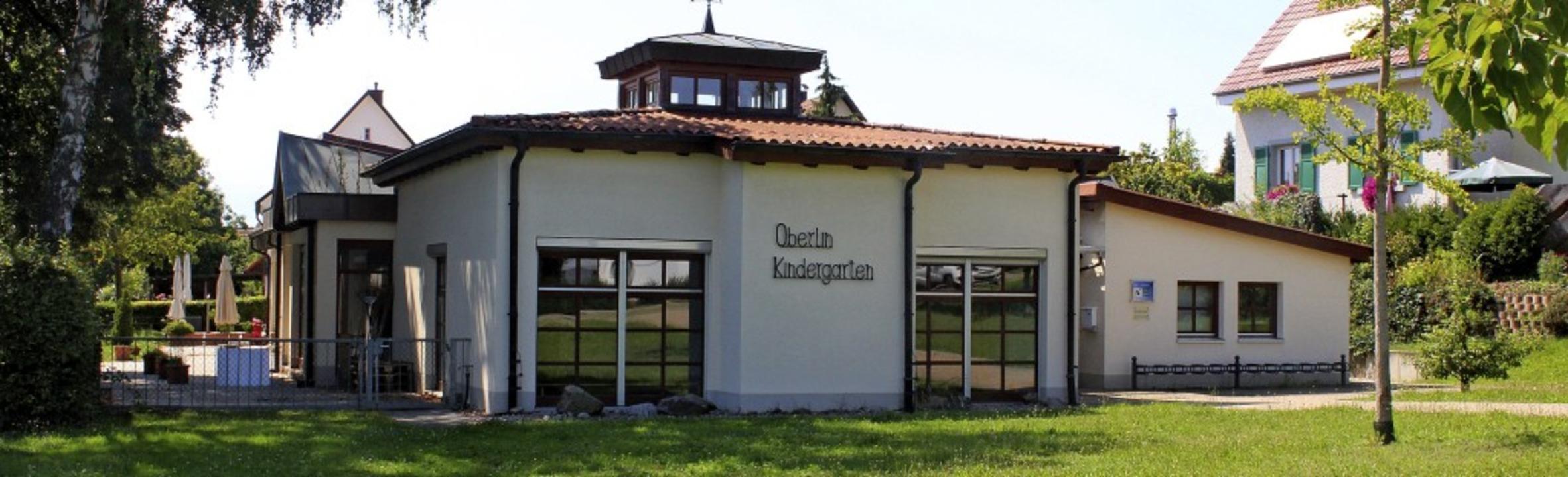 Auch der Oberlin-Kindergarten heißt ba...em Gebäude aber keine Kinder betreut.   | Foto: Reinhard Cremer
