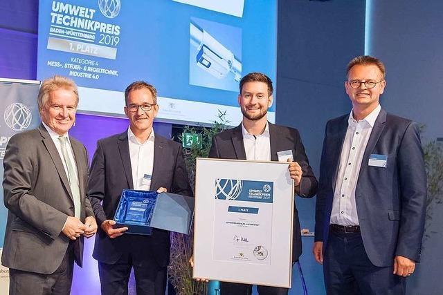 Zwei Unternehmen aus der Region Freiburg erhalten den Umwelttechnikpreis des Landes