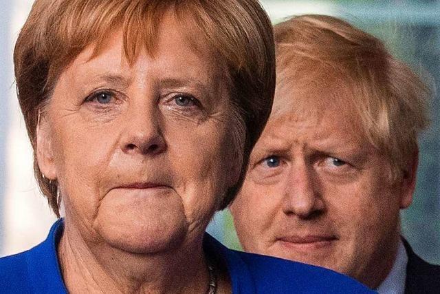 Johnson bei Merkel: Heiter im Ton, hart in der Sache