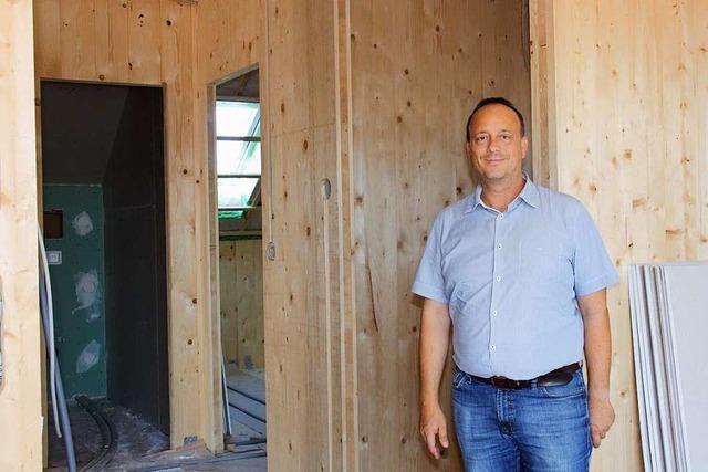 In Bahlingen entsteht das erste Mehrfamilienhaus in Holzbauweise