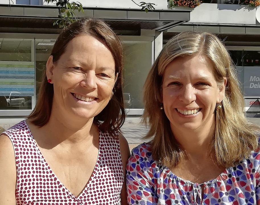 Ansprechpartnerinnnen der Caritas (von... (Schwangeren- und Familienberatung).   | Foto: Caritasverband