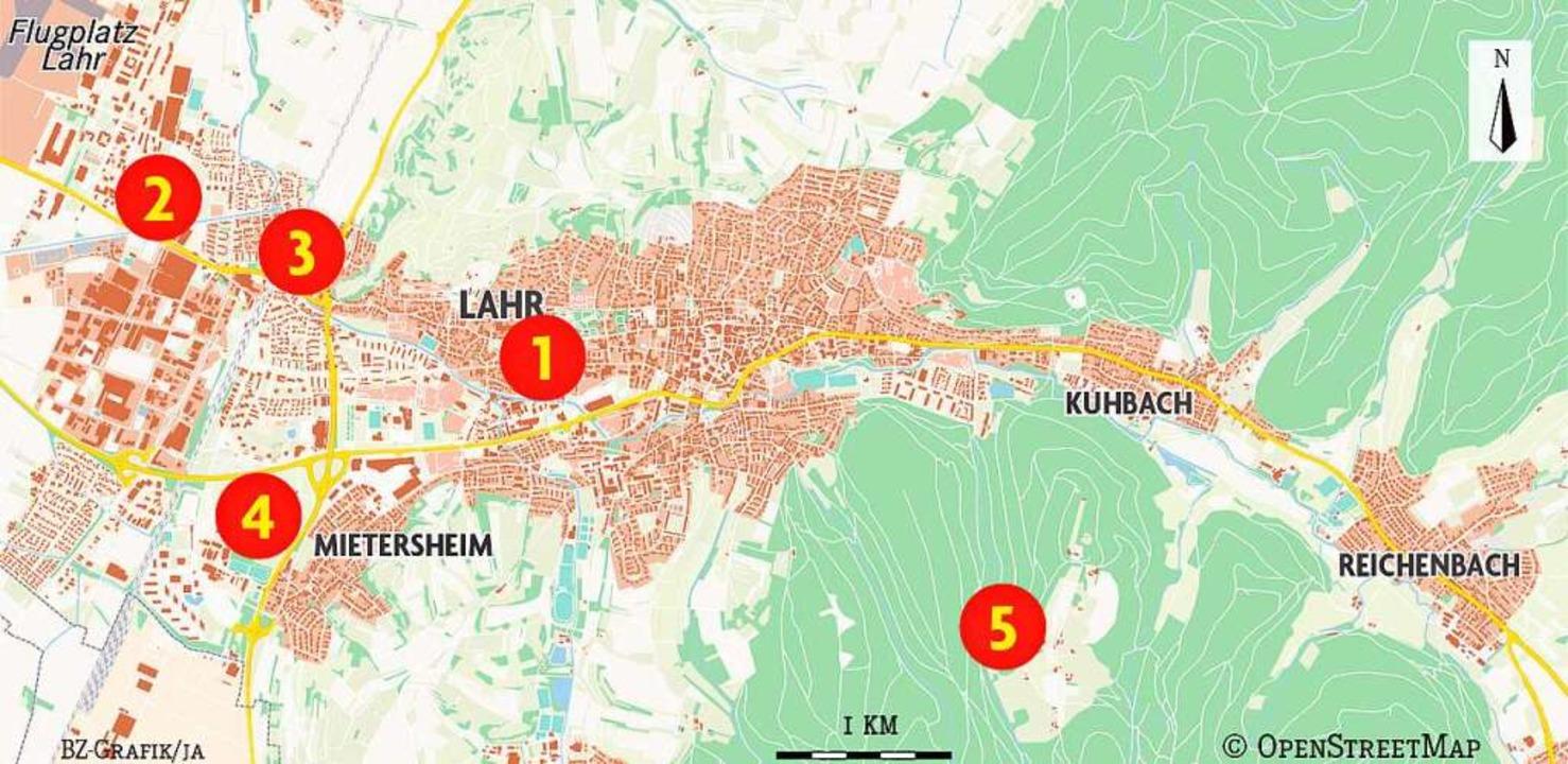 Karte der Rundtour mit Jürgen Durke  | Foto: Badische Zeitung