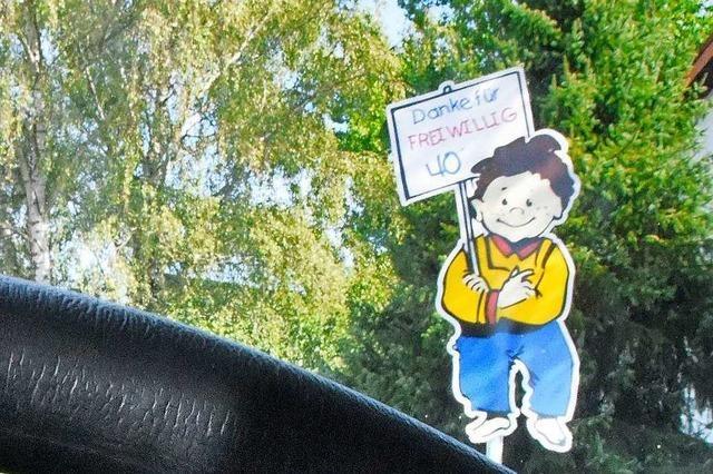 In Vörstetten ruft ein Schild Autofahrer dazu auf, langsamer zu fahren als sie dürfen - viele tun es