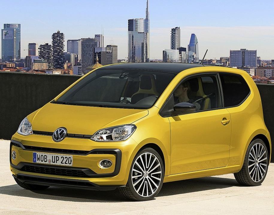 Kleine Verbrenner-Autos wie den VW Up ...ller womöglich bald aufs Abstellgleis.  | Foto: Volkswagen AG (dpa)