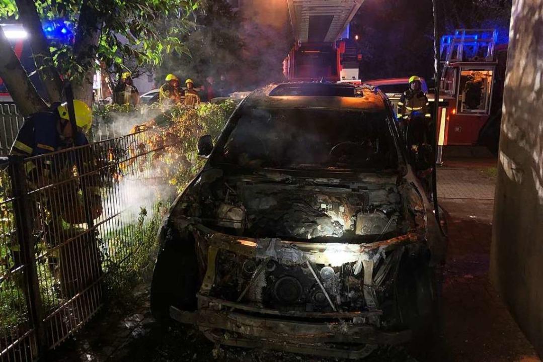 Fahrzeugbrand    Foto: Feuerwehr Emmendingen