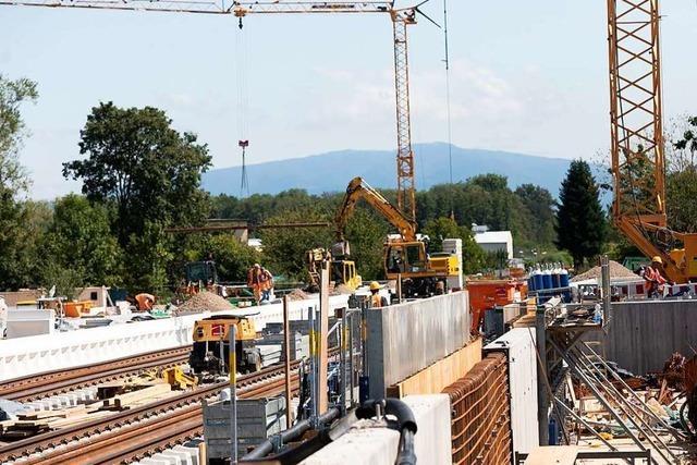 Der Umbau des Gottenheimer Bahnhofs liegt im Zeitplan