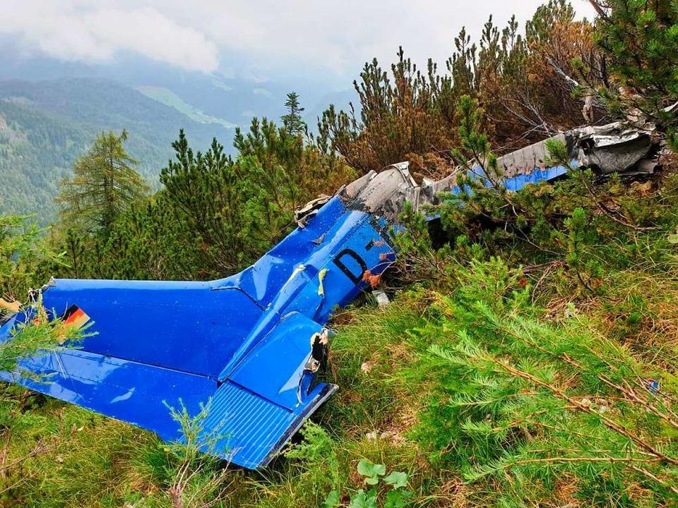 Das Foto zeigt ein verunglücktes Klein...er deutschen Flugsicherung verschwand.  | Foto: - (dpa)