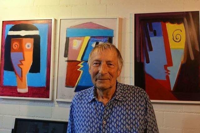 Willi Raiber liebt leuchtende Farben