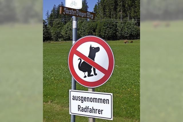 Neues Schild für altes Problem