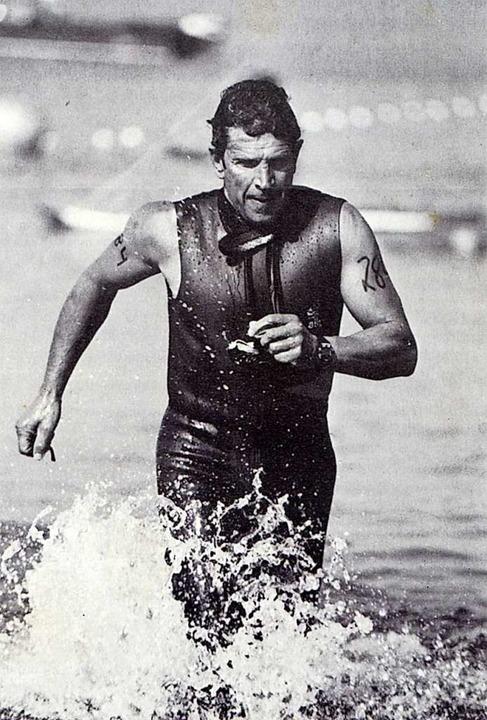 In den 1980er-Jahren nahm Fritz Gommel...ang an Triathlon-Meetings aktiv teil.   | Foto: Privat