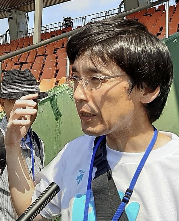 Wirbt für Fukushima und hofft auf den Imagewandel: Takahiro Sato   | Foto: Felix Lill