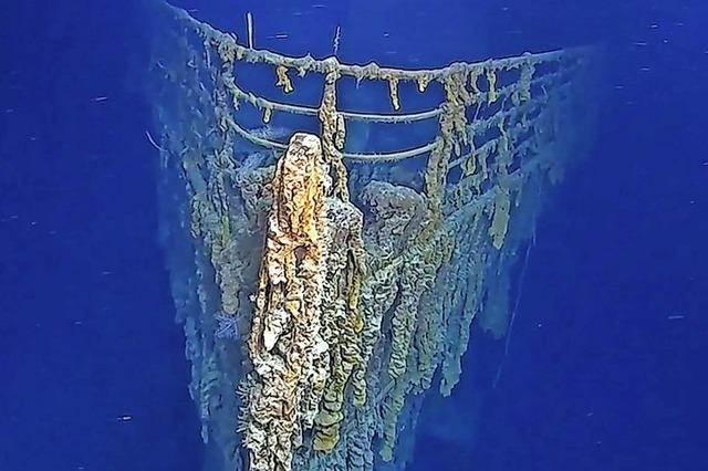 Wrack-Teile der Titanic brechen auseinander