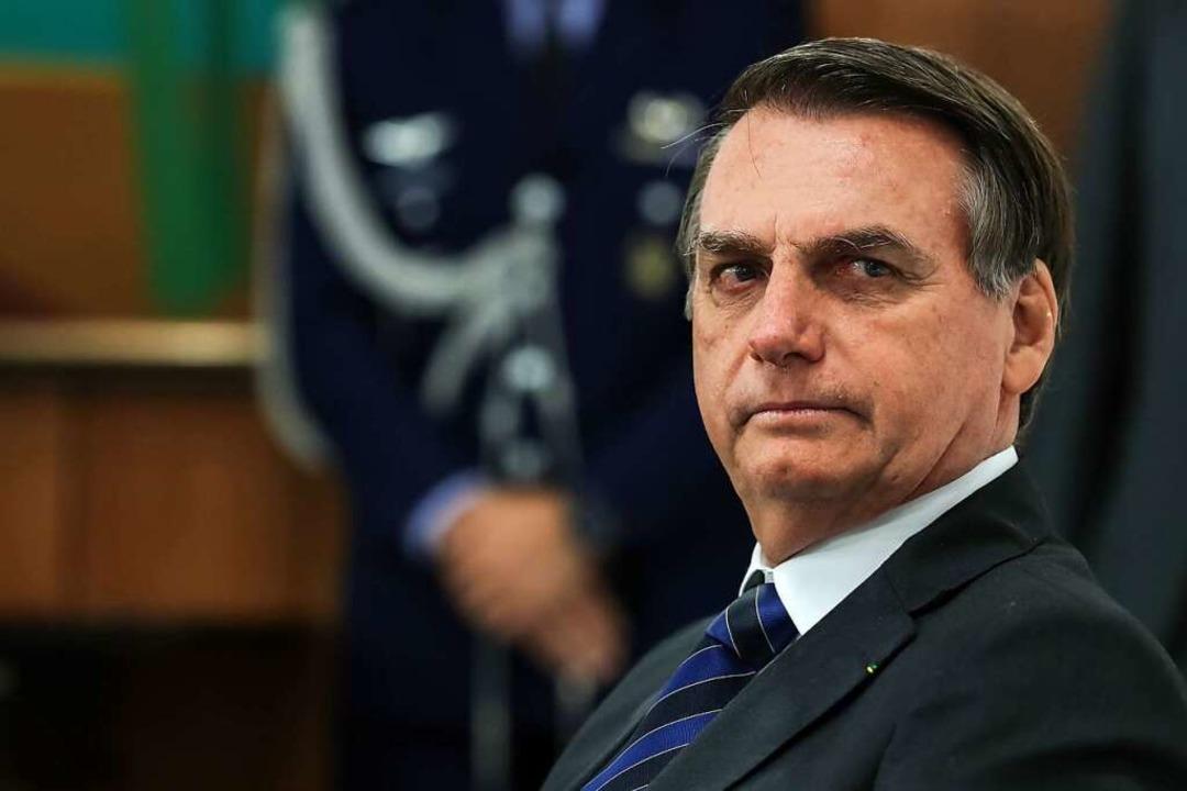 Brasiliens Präsident Bolsonaro –...ür eine Baumpatenschaft im Keidel-Bad?  | Foto: Marcos Correa (dpa)