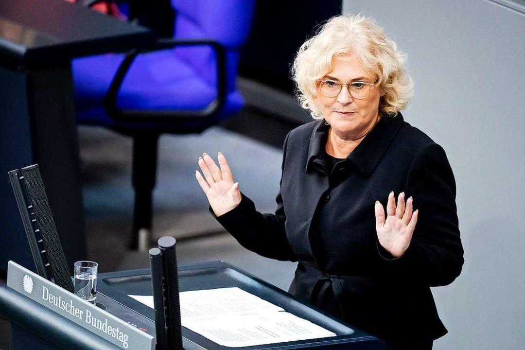Bundesjustizministerin Christine Lambrecht  | Foto: Christoph Soeder (dpa)