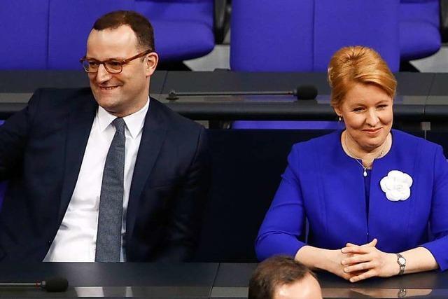 Giffey und Spahn warnen vor Bruch der großen Koalition