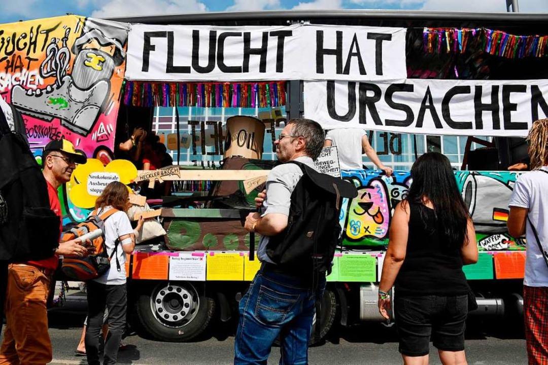 Demo in Dresden    Foto: JOHN MACDOUGALL (AFP)