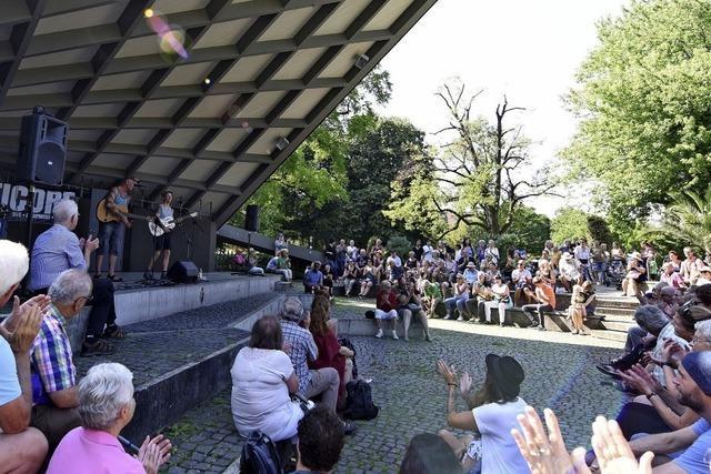 Straßenmusik im Stadtgarten