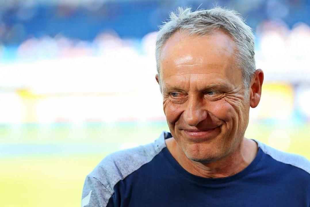 Christian Streich und der SC Freiburg haben gerade eine Glückssträhne.  | Foto: Friso Gentsch (dpa)