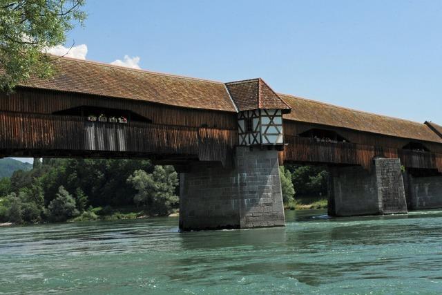 Die Bad Säckinger Holzbrücke ist Lebensraum vieler Tiere