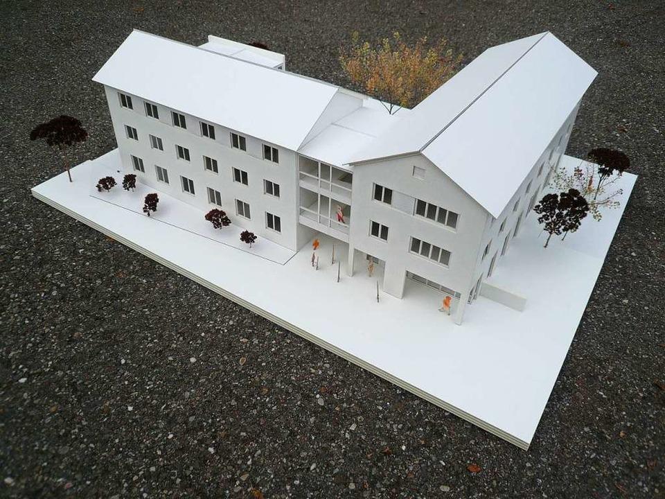 Das Modell des Neubaus  | Foto: Tüllinger Höhe