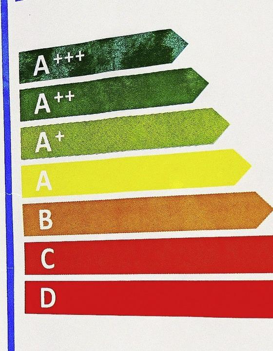 Energieeffizienzklassen auf Elektrogeräten  | Foto: Peter Kneffel