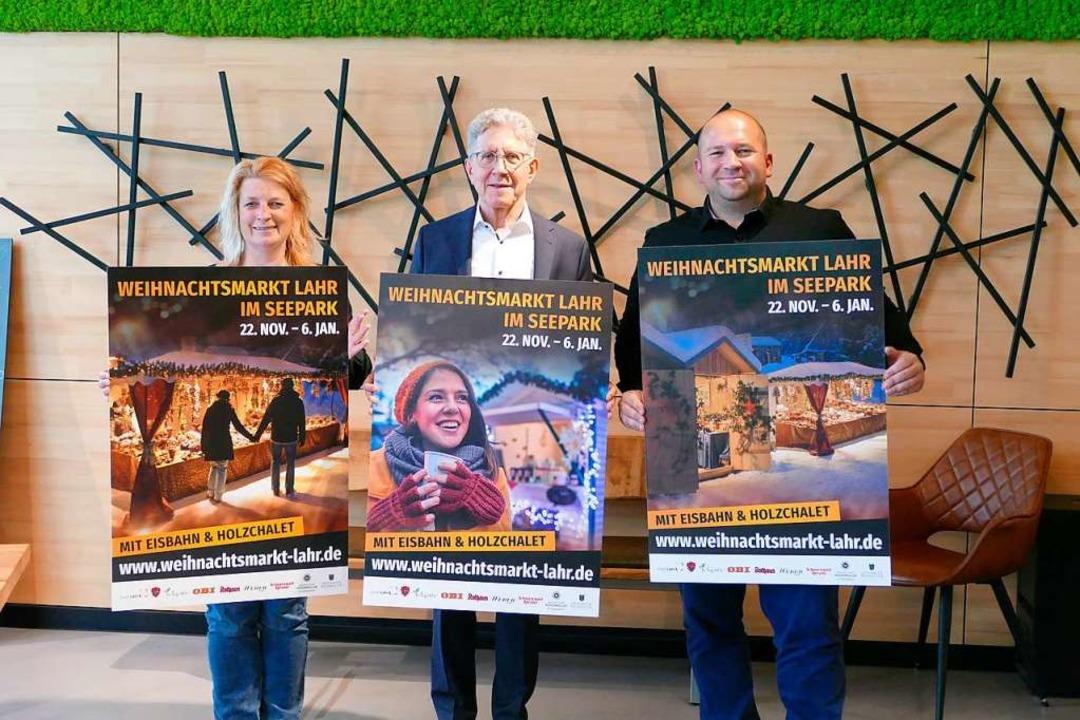 Im Mai präsentierten Ulrike Karl (LGS ...rkt – auch Plakate gab es schon.  | Foto: Mark Alexander