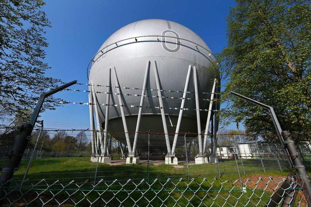 Der Bürgerverein Betzenhausen würde die Gaskugel gerne erhalten.   | Foto: Thomas Kunz