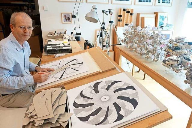Der Künstler Gerd Jansen arbeitet seit zwei Jahren täglich an einer Werkgruppe