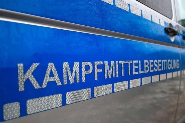 Fliegerbombe auf Flugplatz bei Karlsruhe entschärft