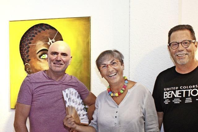 Afrikanische Schönheiten der Oberbränder Künstlerin Eva Kneipp imn Freiburg