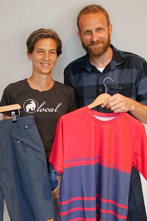 Maike und Dominik Kronauer haben das M...bike Bekleidungslabel Local gegründet.    Foto: Jannik Jürgens