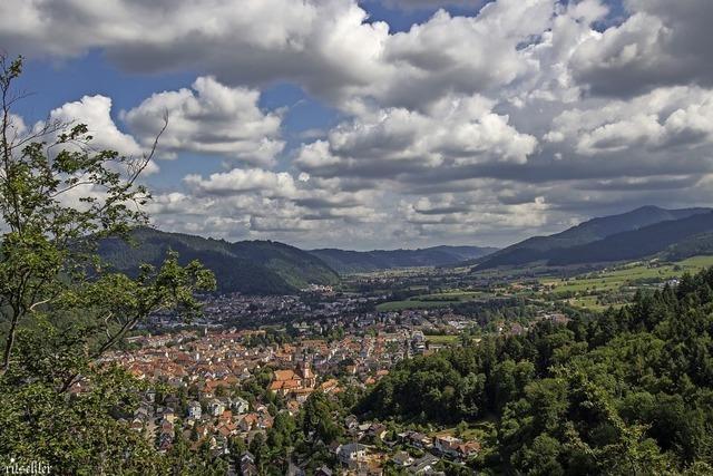 Sonne und Wolken über Waldkirch