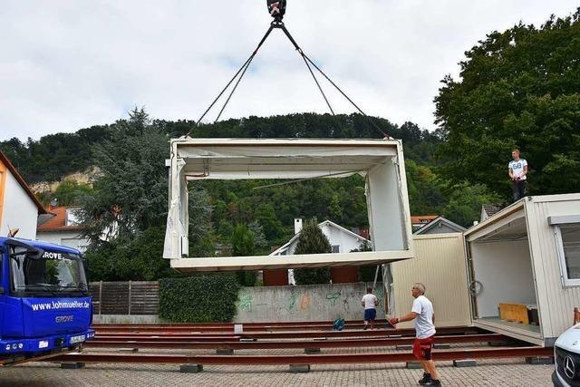 In Containern soll der Betrieb im Kinderhaus in Grenzach-Wyhlen weitergehen