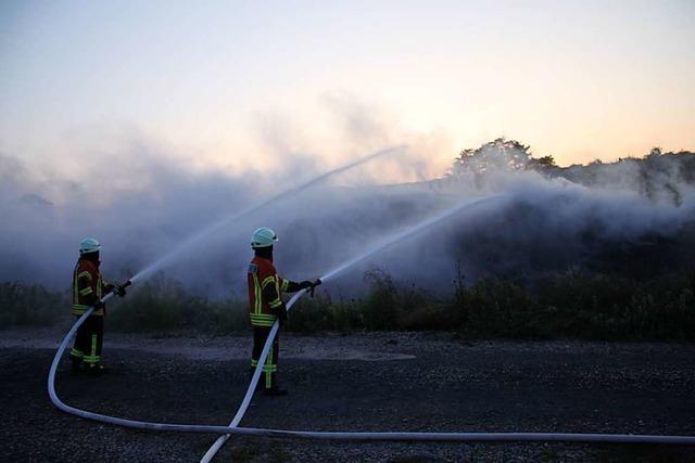 Schwelbrand auf der Ringsheimer Deponie