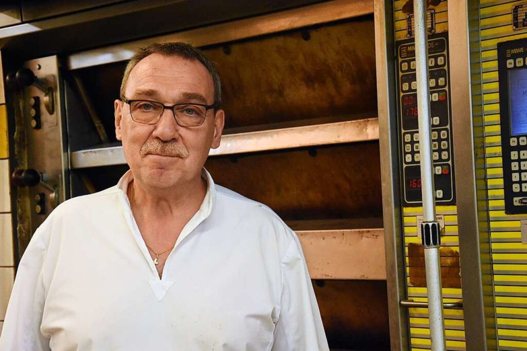 Bernhard Paul ist der letzte verbliebene Handwerksbäcker in Lörrach.  | Foto: Kathrin Ganter